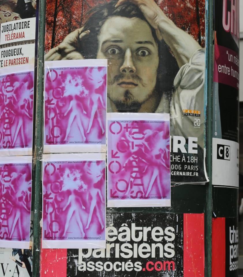 COLONNE MORRIS BARBIEMETRIE BOYS AND GIRLS PARIS AOUT 2017