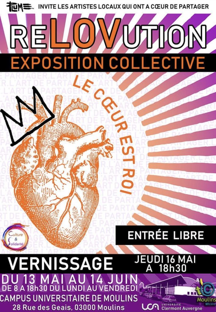"""EXPOSITION """"RéLOVUTION"""" affiche PLUME ET PLOMB MAI 2019"""
