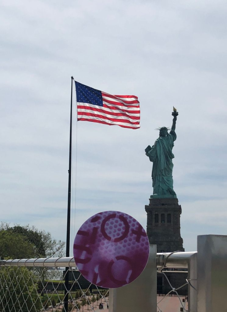 """PIECE OF BARBIEMETRIE AROUND THE WORLD"" LIBERTY ISLAND . NEW YORK. 2019."